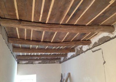 Sabbiatura soffito in legno