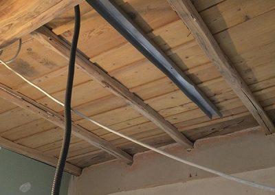 Sabbiatura soffitto in legno