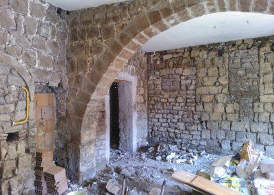 Restauro pareti enoteca Viterbo